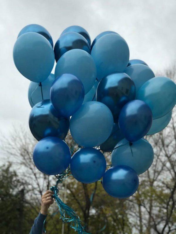 Связка шаров Голубая Лагуна